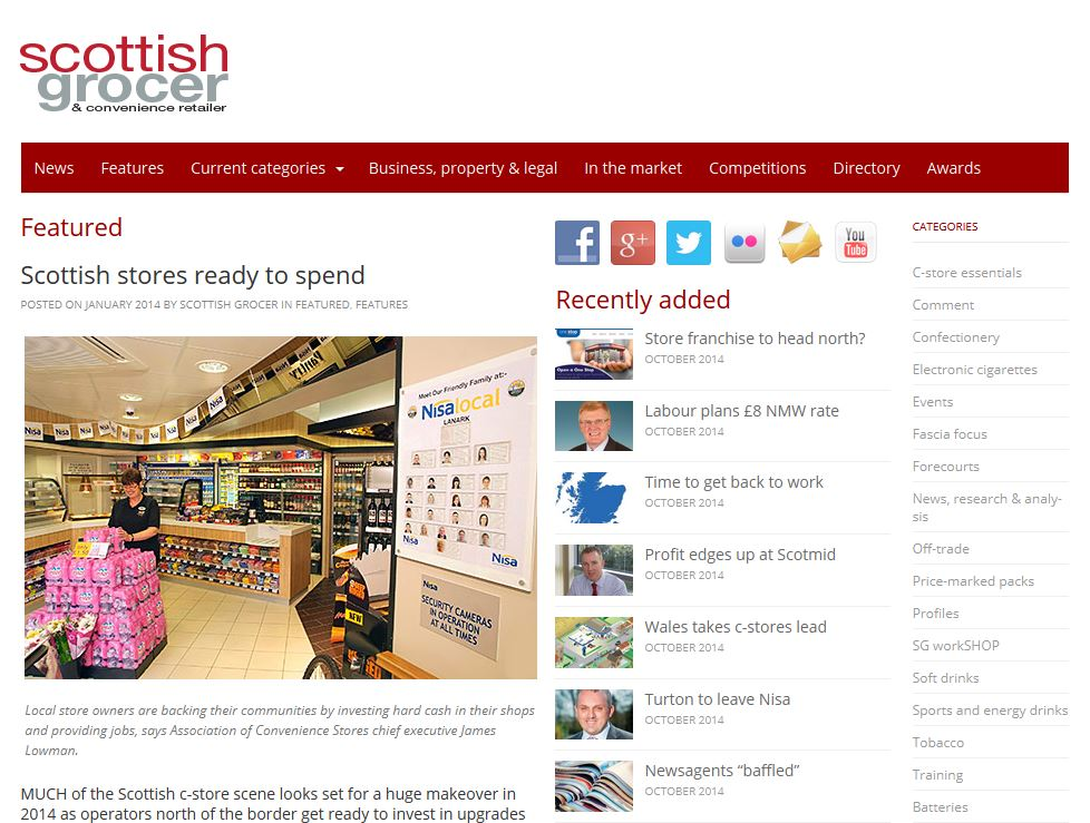 Scottish stores ready to spend