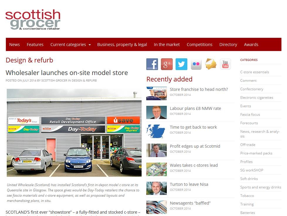 Wholesaler launched on-sale model store